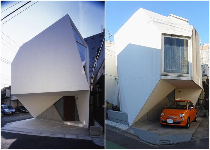 Уникальный маленький домик в густонаселенном районе Токио («Отражение кристалла»).