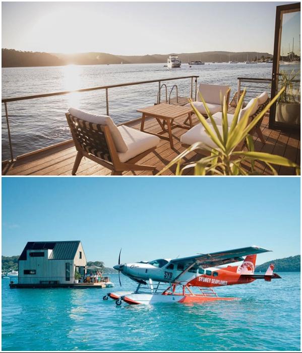 Гостей отеля доставляют на катере или гидросамолете («LilyPad Palm Beach Villa», Австралия).   Фото: realestate.com.au/ venuereport.com.