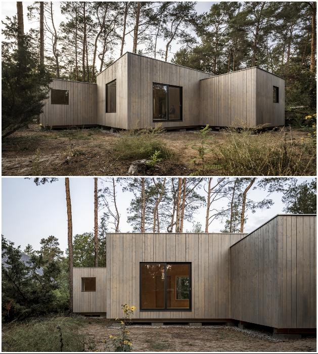 Возле каждой комнаты можно организовать небольшие внутренние домики (Haus Koeris, Германия). © Zeller & Moye.