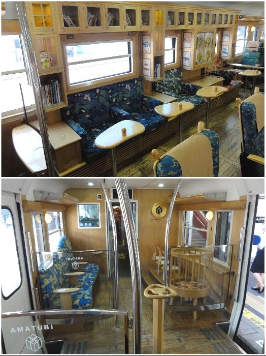 Своеобразная гостиная в составе туристического поезда «Ibusuki no Tamatebak». | Фото: pikabu.ru.