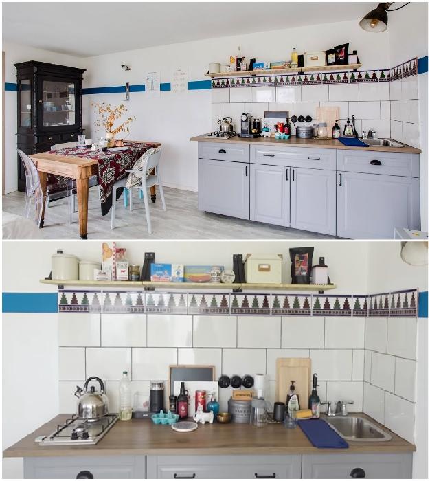 Зону кухни-столовой не стали загромождать большим количеством мебели и оборудования («Небанальный дачный домик», Истра). © Xenia Naletova.