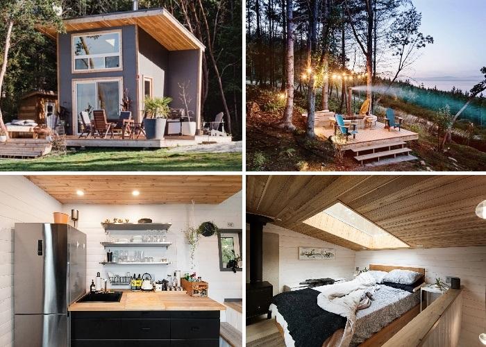 Galiano 100 от Trim Studio - это крошечный дом для загородного отдыха площадью всего 9,3 кв.м. имеет все необходимое для комфортного проживания (Канада). | Фото: mymodernmet.com/ Ярус Браун.
