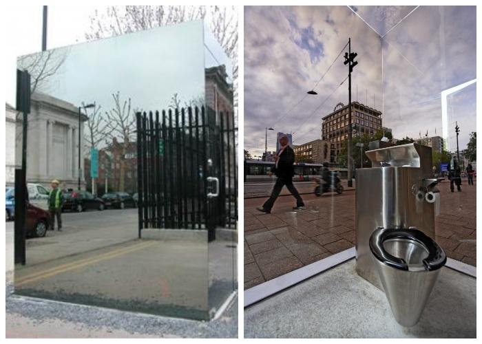 Снаружи туалета можно собой полюбоваться, а изнутри – наблюдать за прохожими (Лондон, Великобритания).