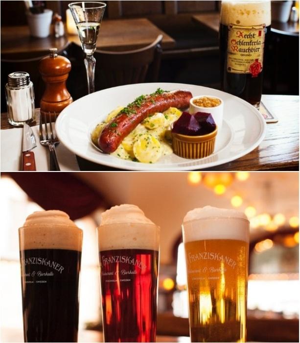 Простая и вкусная еда ресторана Zum Franziskaner в Стокгольме радует и местных жителей (Швеция).   Фото: tripadvisor.co.za.