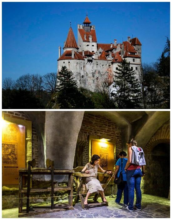 Замок Бран представляют лже-замком бессмертного вампира графа Дракулы (Румыния).