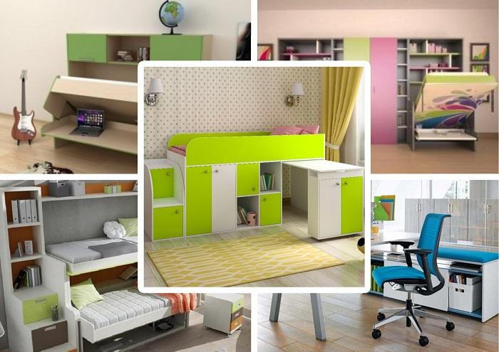 Удобная смарт-мебель для детской комнаты.