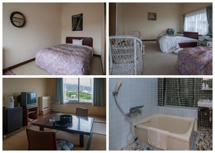 Номера заброшенного отеля Hachijo Royal Hotel остались нетронуты (остров Хатидзедзима, Япония).