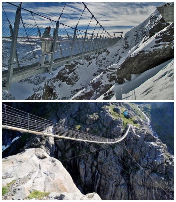 <br>Мост Titlis Cliff Walk был построен к столетнему юбилею канатно-кресельной дороги (Швейцария). | Фото: Walkmyswitzerland.com.