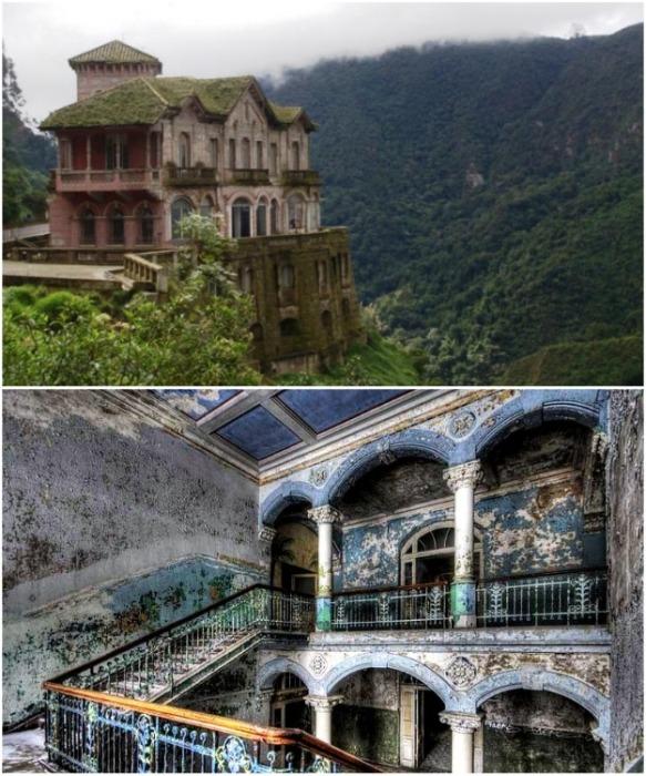 Призрачный отель Дель-Сальто возле водопада Текендама несмотря ни на что является особой достопримечательностью Колумбии. | Фото: zen.yandex.ru.