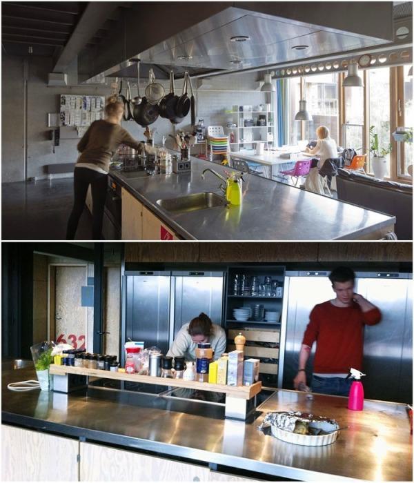 На территории кампуса находится 30 благоустроенных кухонь (Tietgenkollegiet, Копенгаген). | Фото: propertytimes.com.ua.