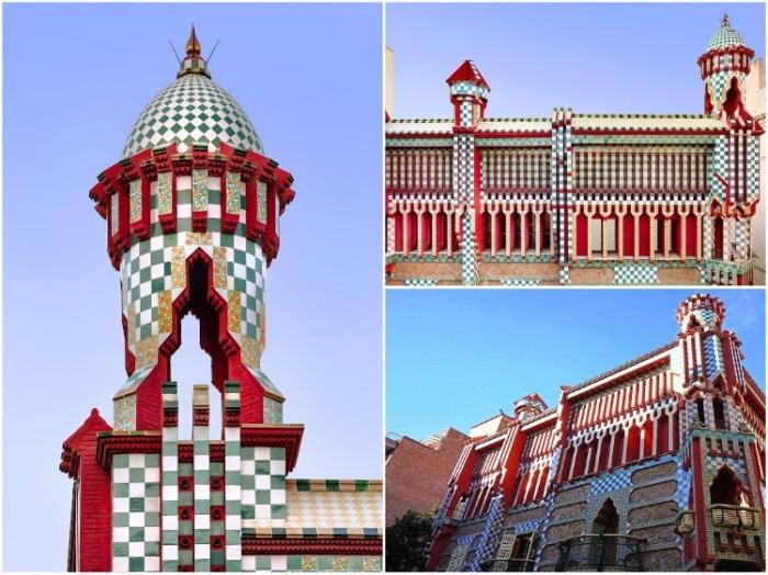 Яркие цвета и Casa Vicens напоминают мавританскую архитектуру (Барселона). | Фото: elledecoration.ru/ David Cardelus.