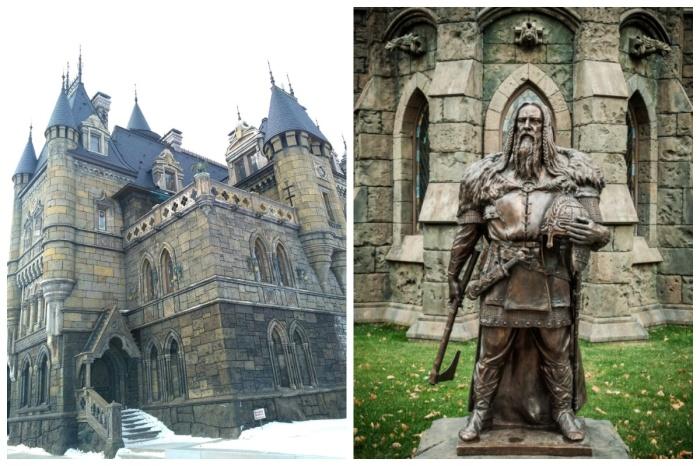 Современный замок являет собой архитектурную фантазию на тему европейской готики и романтизма («Замок Гарибальди», с. Хрящевка). | Фото: pikabu.ru.