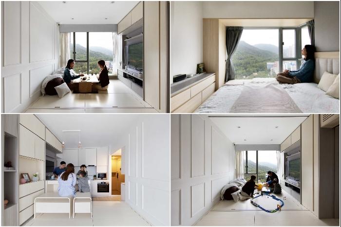 Архитектурная фирма Sim-Plex превратила микро-квартиру в комфортные апартаменты (Smart Zendo). | Фото: © Sim-Plex.