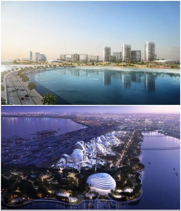 «Чистый город» будет соединен с автомобильными мостами, водным транспортом и линиями метро (концепт «Net City»). | Фото: archiposition.com/ © NBBJ.