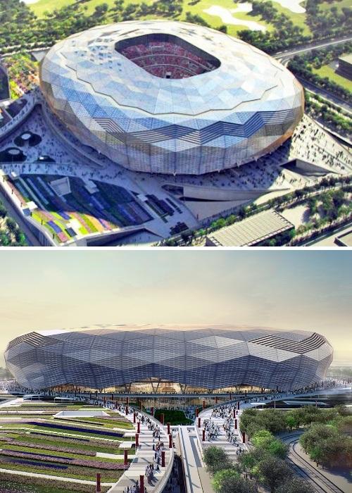 Стадион на 40 тыс. посадочных мест строится в Эдьюкейшн Сити (проект архбюро FIA Fenwick Iribarren Architects, Катар ЧМ-2022). | Фото: вen.thegreatermiddleeast.com.