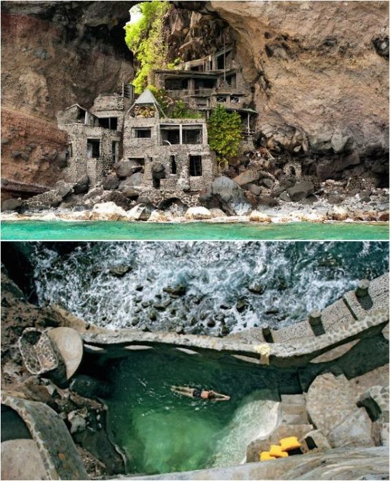 На острове Бекия в Карибском море Джонстоны построили уникальный дом Moonhole (Сент-Винсент и Гренадины). | Фото: altmangrenada.com.