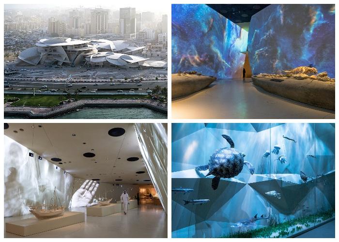 Уникальные экспозиции раскрывают всю историю развития человечества в контексте становления нации Катара (Национальный музей). | Фото: officiel-online.com.