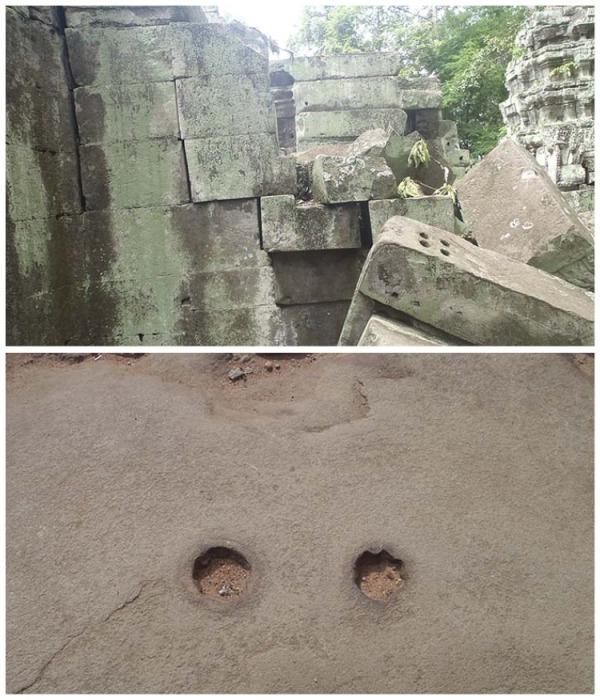 Углубления на камнях натолкнули ученых на мысль, как могли доставлять камни на дальние расстояния. | Фото: old.lah.ru.