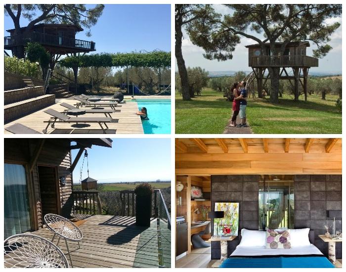 На территории отельного комплекса La Piantata есть еще один домик на дереве – Black Cabin (Италия). | Фото: glamping.com.