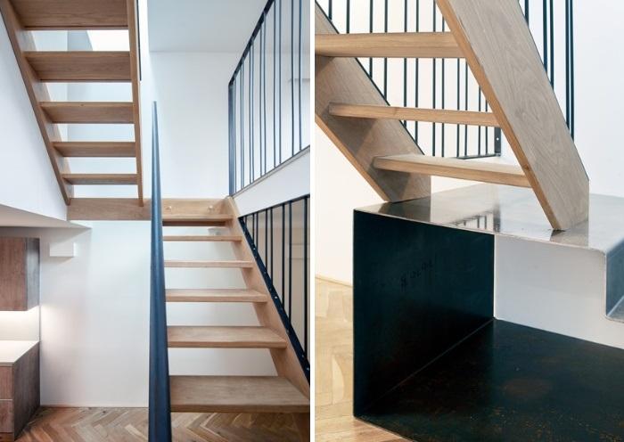 Дерево и металл – основные материалы, которые использовались для оформления интерьера (Gouse, Лондон). | Фото: architectsjournal.co.uk.