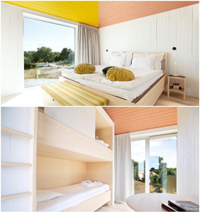 В необычном номере обустроены две спальни с панорамными окнами («SynVillan», «Eriksberg»). | Фото: scandinavianmind.com.