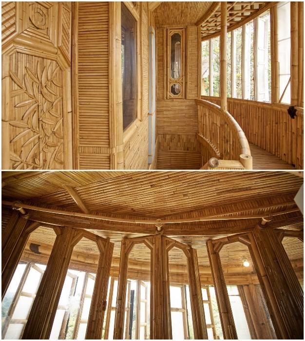 Бамбук очень податлив в обработке и является идеальным материалом для создания красивых и стильных интерьеров (Piyandeling, Индонезия).