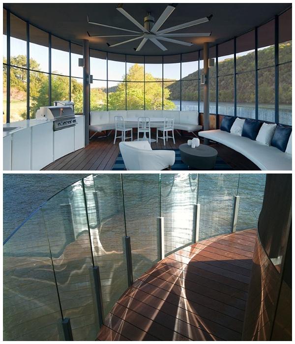 Благоустроенный второй ярус беседки с искусственным водопадом Bery Chen Home Studio (Озеро Остин, США).