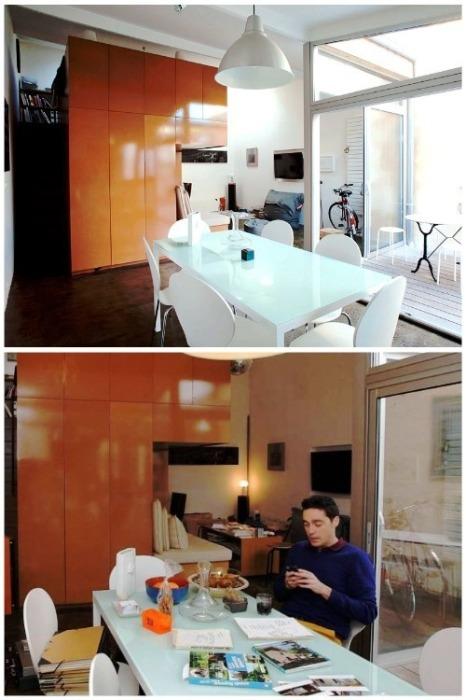 Столовая стала идеальным местом для приема гостей и для работы. | Фото: sudouest.fr.