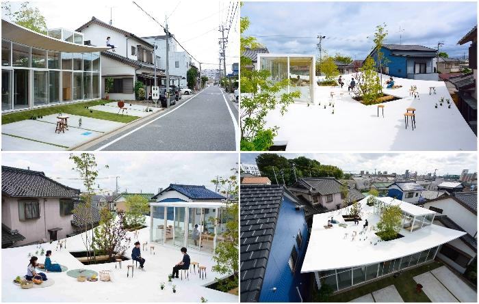 Японские архитекторы создали для себя офис, в котором есть собственный парк на крыше («Sannouno», Окадзаки). | Фото: studiovelocity.jp/ mymodernmet.com.