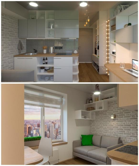 Так выглядит микроквартира площадью 11,6 кв.м. (Москва, Россия). | Фото: degunino.msdmos.com.