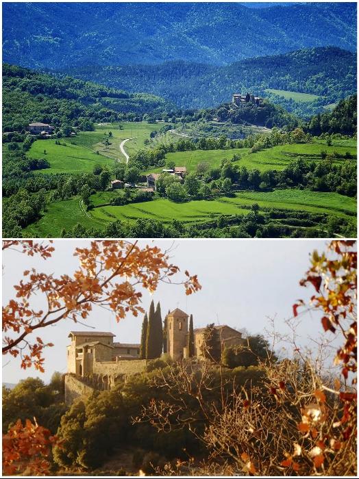 В любую пору года отель-замок, окруженный первозданной природой, ждет своих гостей («Castell de Llaes», Испания). | Фото: boredpanda.com, © Marc/Airbnb/ booking.com.