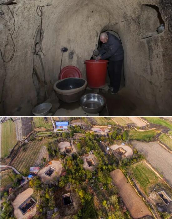 Жизнь и быт жителей подземной деревни не менялся веками (Китай). | Фото: bigpicture.ru.