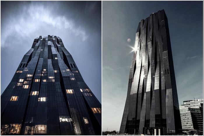Несмотря на то, что DC Tower является самым заметным зданием Вены, положительные эмоции он не вызывает (Австрия). | Фото: twitter.com/ knowyourmeme.com.
