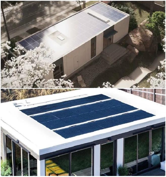 Все без исключения модели оснащены солнечными батареями (San Ramon, Калифорния). | Фото: dailymail.co.uk/ © Mighty Building.