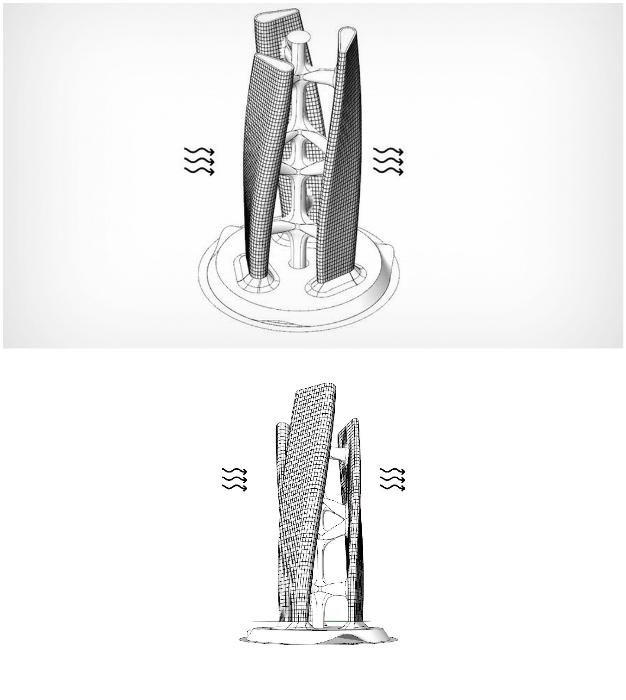 Конструктивные особенности небоскреба Squall Tower (концепт архстудии Hayri Atak).