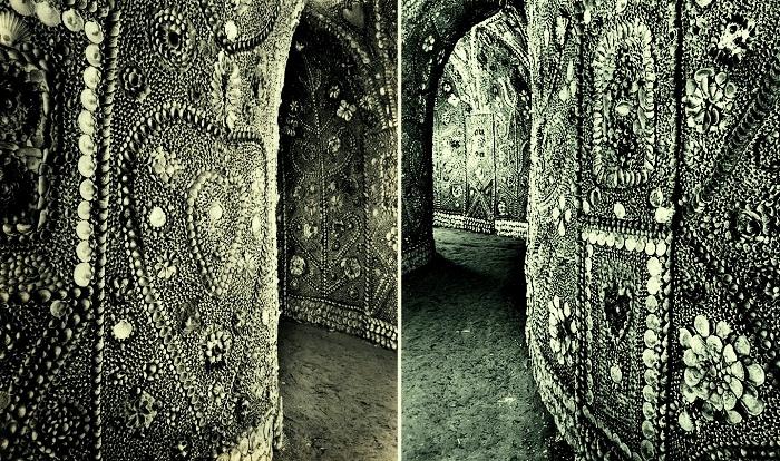 Символы жизни, женственности и любви украшают тоннели подземного дворца (Margate Shell Grotto).