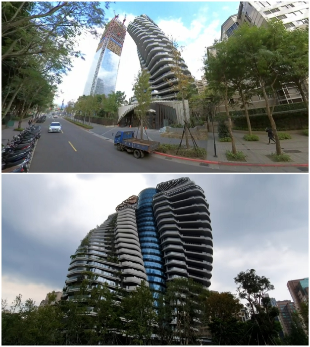 На данный момент небоскреб Agora Garden Towe выглядит так (Тайбэй, Тайвань).