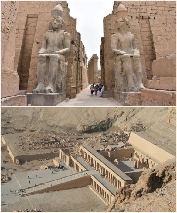 Величественные храмы Древнего Египта. | Фото: tripegypt.su.