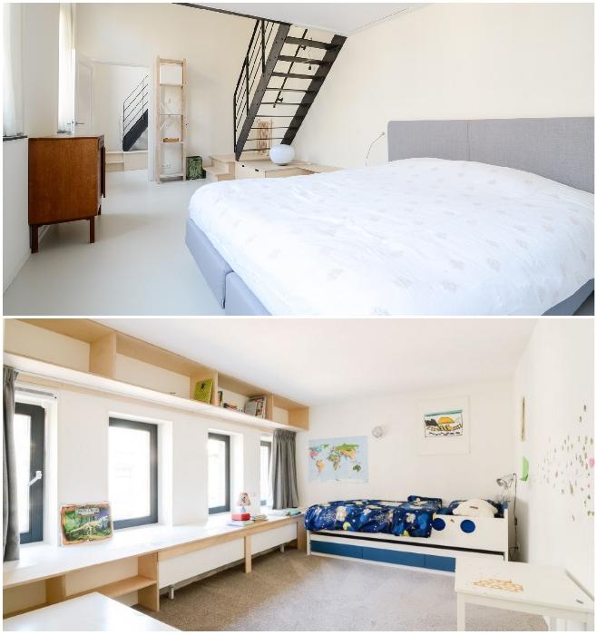 Варианты обустройства спальных комнат на первом и в втором уровнях. | Фото: andrey-che.livejournal.com.