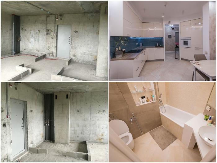 Даже на площади 32 кв. м можно обустроить функциональную и стильную двухкомнатную квартиру. | Фото: lemurov.net.