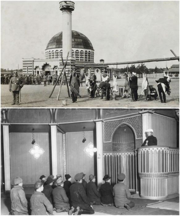 Для мусульман, которых готовили в к террористическим операциям, построили мечеть (Вюнсдорф, Германия). | Фото: waltergutjahr.wordpress.com.