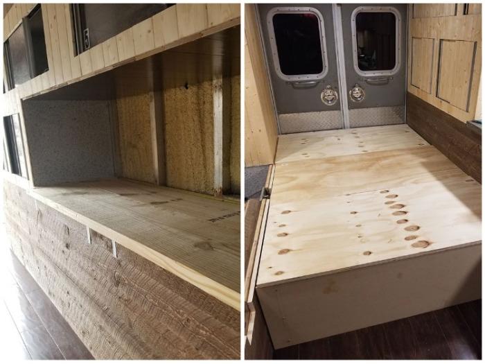 Для внутренней отделки и создания мебельных модулей Майкл использовал пиломатериалы и фанеру. | Фото: hypeness.com.br.