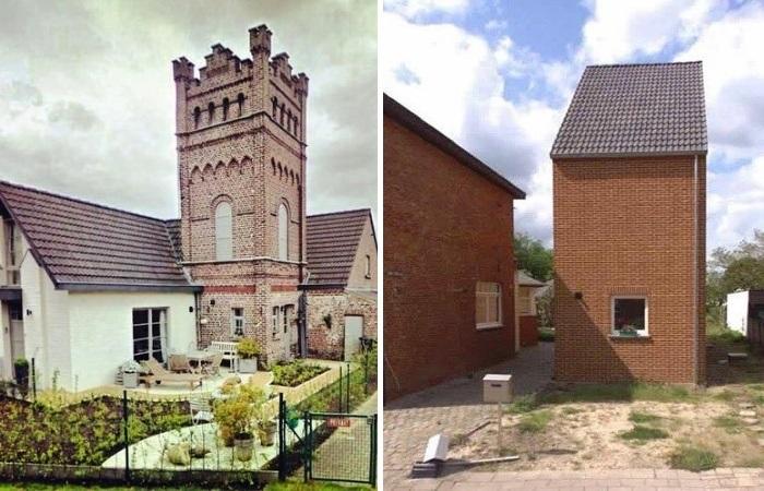 Когда в наследство достался крошечный кусочек земли («Ugly Belgian Houses»). | Фото: pinterest.com.