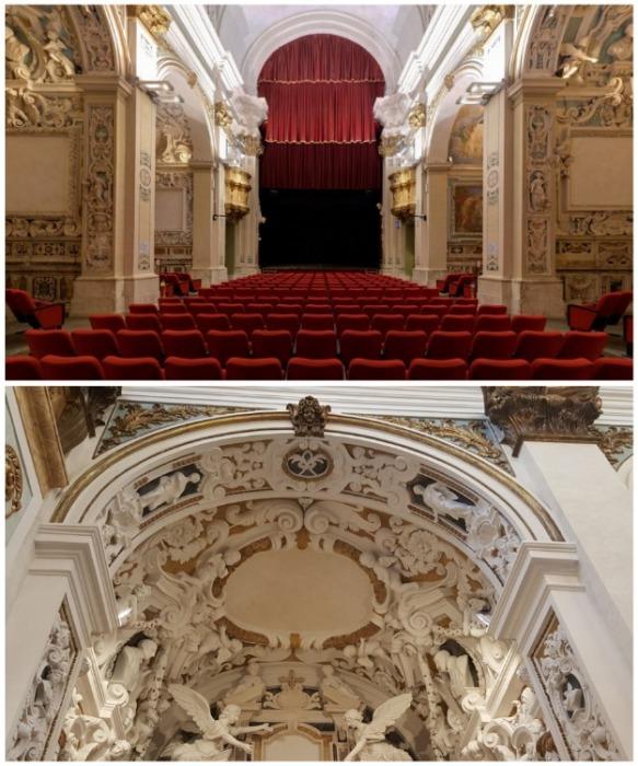 Старинная церковь с роскошным убранством трансформировалась в Teatro San Filippo (Италия). | Фото: cantualeantonianum.com.