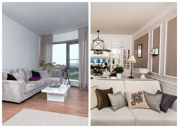 Классический белый потолок без вычурных элементов будет в моде всегда.