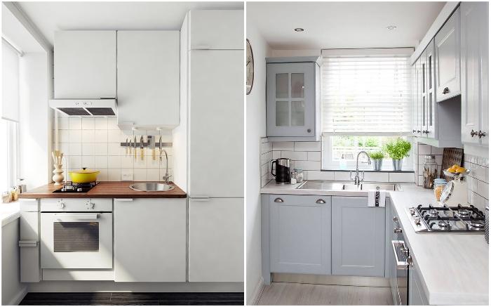 При обустройстве маленьких кухонь всегда приходится чем-то жертвовать, но это не должно влиять на функциональность.