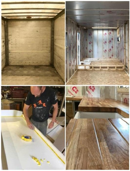 Для оформления внутренней части грузовика использовали натуральные материалы. | Фото: pensandpatron.com.