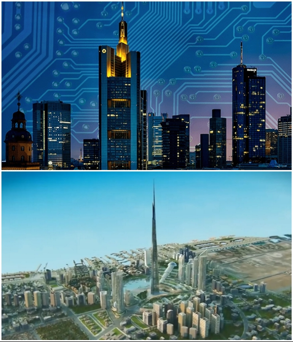 «Умные» технологии будут управлять городской инфраструктурой (NEOM). | Фото: agahiplus.com/ youtube.com, © ArchDaily.