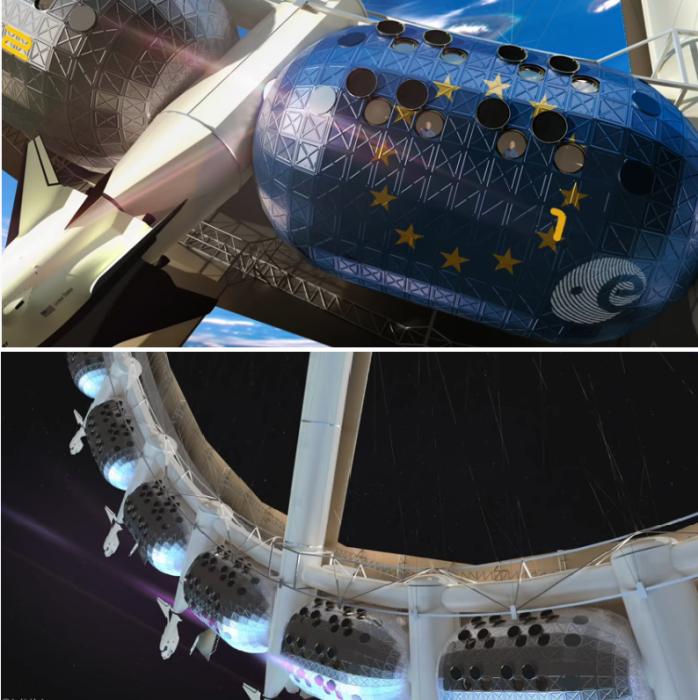 Орбитальный отель будет состоять из 24 капсул-модулей площадью по 500 кв.м. каждая (концепт отеля Von Braun Space Station). | Фото: youtube.com/ The Gateway Foundation.