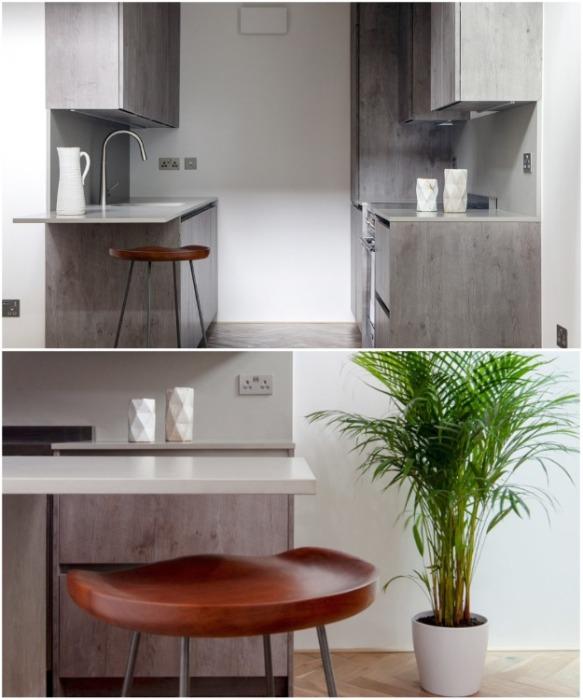 Кухня-столовая в доме-гараже (Gouse, Лондон). | Фото: disenoyucatan.com.